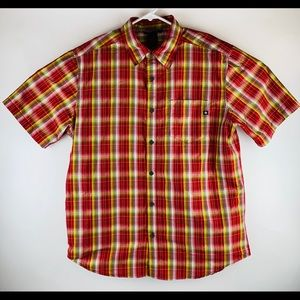 Marmot Red Plaid Button S/S Shirt
